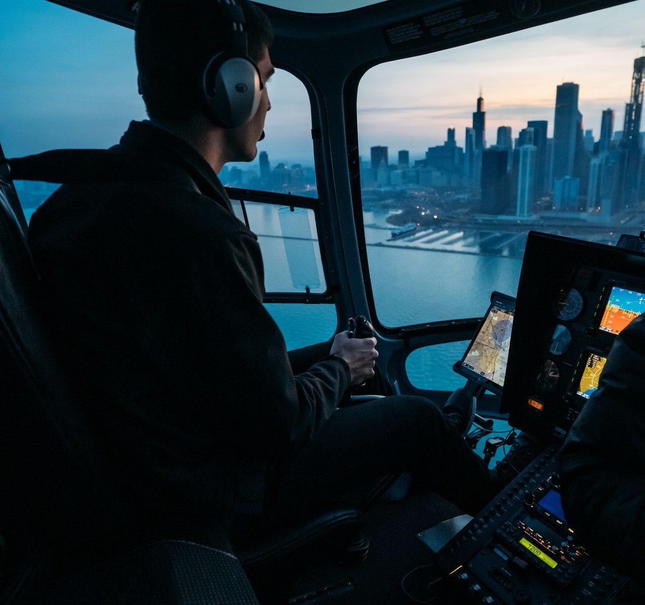 Полет на вертолете London